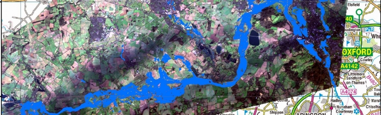 The Environment Agency in England, UK, uses satellite imagery to target recovery measures on flooded areas