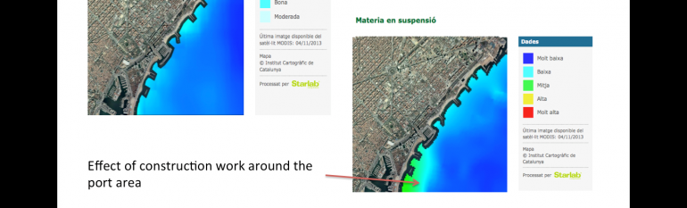The City of Barcelona uses a satellite-based service to monitor coastal water quality