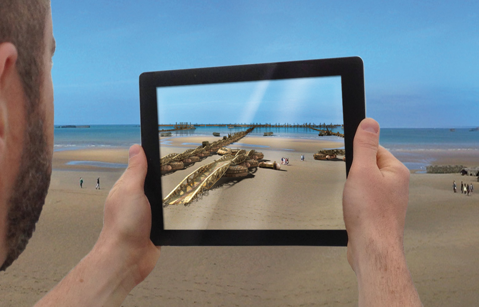Arromanches 1944:  See what cannot be seen anymore