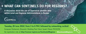 What can Sentinels do for regions?  A discussion about the use of Copernicus satellite data within Local and Regional Authorities in Europe